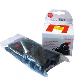 Hebie Set F1 Dragkrok + Sadelstolpe adapter svart